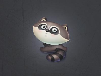 Cute Raccoon raccoon gameart juboart cg nice cute animal character art 2d game