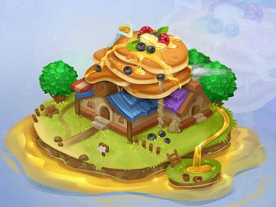 Pancake house 2d cg juboart game isometric pancake house sweet