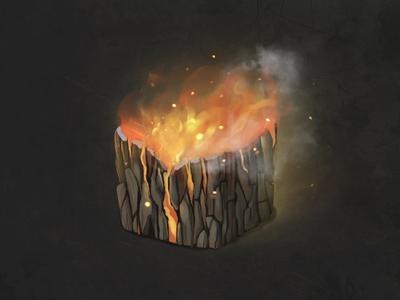 Burning stump texture