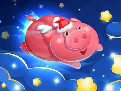 Pig New Year Illustration