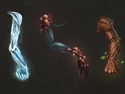 Monster's hands anatomy hand cgart digital design magic juboart illustration cg 2d art