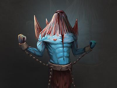 Monster monster fantasy character magic juboart illustration cg 2d art