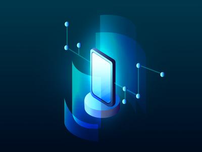 Data visualization concept smartphone. Technology, High-tech