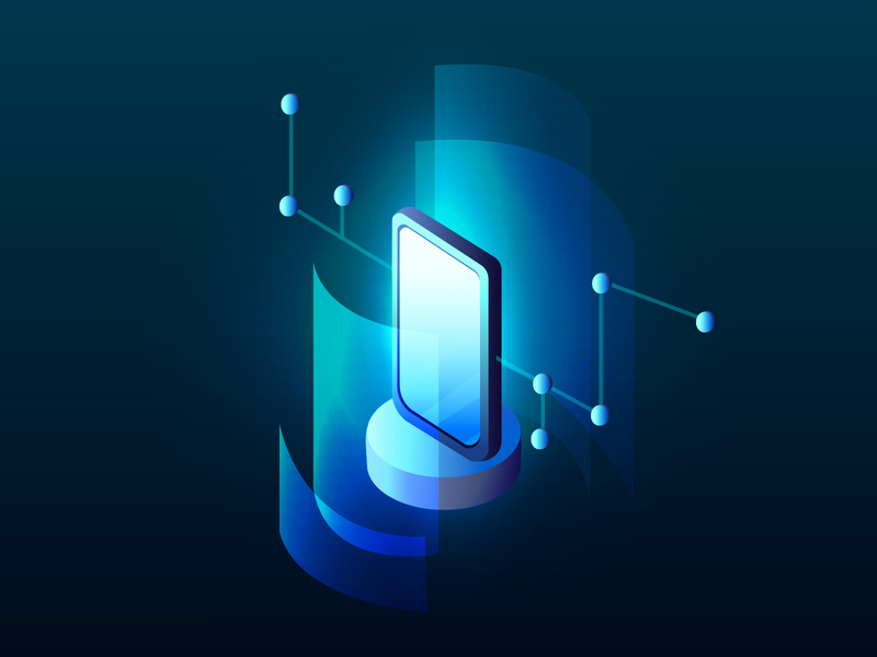 Data visualization concept smartphone. Technology, High-tech monochrome isometry trendy colors gradient illustration vector illustration analytic shutterstock vector high-tech smartphone technology bigdata ui
