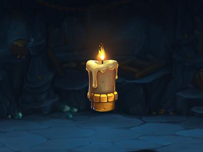 Magic candle icon⭐️ gameart digital art drawing digital icon ui gui juboart magic illustration cg game 2d art