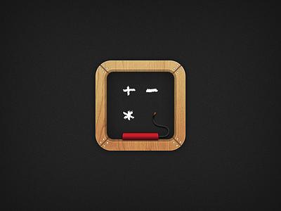 DisarMe iOS Icon shelf wood frame chalk board bomb ios icon game