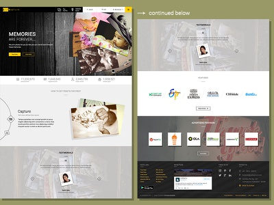 Justkapture - Curated by Chiranjeet Banerjee photography prints interaction design visual design