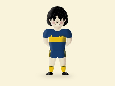 Diego Armando Maradona (1960-2020) football sketch procreate maradona illustration