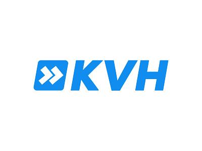 KVH Logo minimal vector logo icon typography design branding