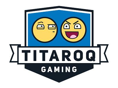 TITAROQ Logo gaming logo gaming branding vector logo design illustration