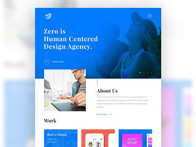 Zero Design Agency minimal flat webapp webdesign