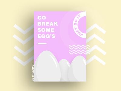 pastel color Poster Design justdoit poster posterdesign minimal flat