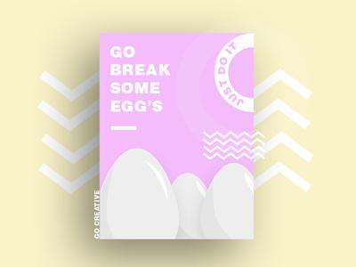 pastel color Poster Design