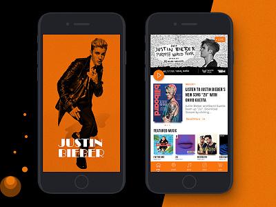 JB App Design jb jbapp flat app bieber justin