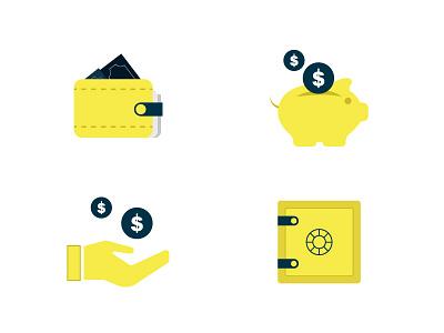 Savings Icon save locker hand money wallet savings piggybank