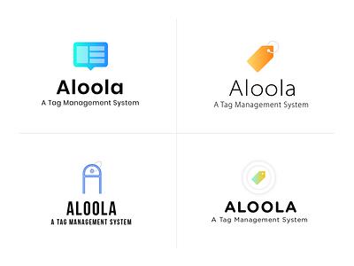 Aloola Logo gradient design logodesign flat logo