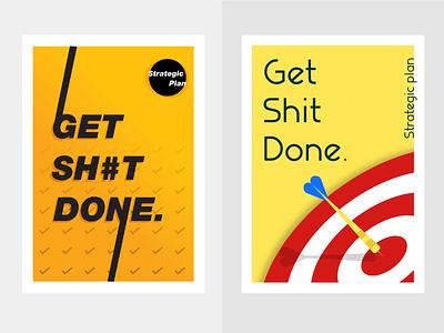 Poster for fun poster design illustration color gradient minimal flat
