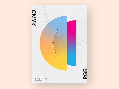 Blending Of Cmyk & Rgb color gradient design gradient color gradient