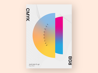 Blending Of Cmyk & Rgb
