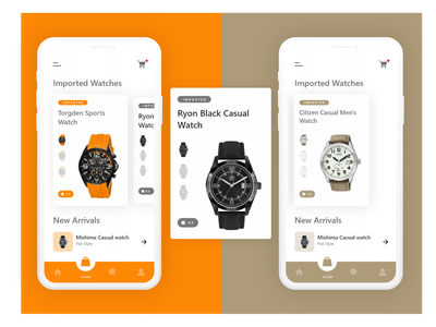 Imported watches App color clean app minimal flat