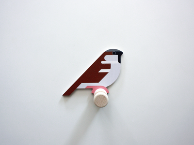 wooden Sparrow wall hook cnc cut vector wall decor wood sparrow