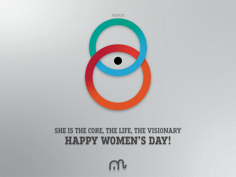 Happy Womens day icon typography character branding colours aftereffects vector illustrations design illustration 2d preciuos woman specialday womensday