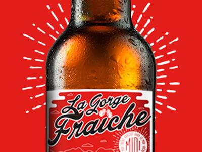 Beer La Gorge Fraiche beer packaging bière