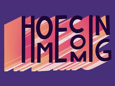 Homecoming mural procreate typography letter typ lettering coming home