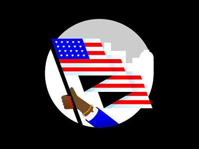 America harris biden election usa flag america