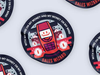 Sales Wizard emoji smile nokia up start hub sticker wizard sales