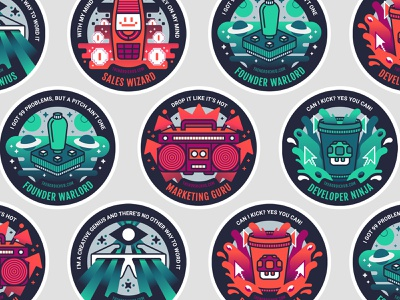 Nordic Hub Sticker Set music space gaming incubator up start hub nordic set sticker
