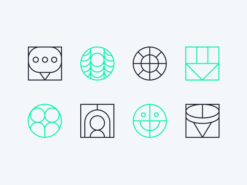Strange Abstract Icons By Mattie Lynch On Dribbble Download Free Architecture Designs Embacsunscenecom