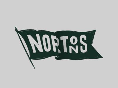 Nortons Flag rough pub bar sketch flag