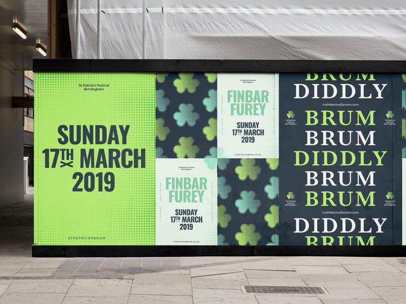St.Pats type green irish hoarding birmingham festival patricks saint