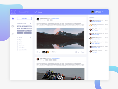 [Concept] Social Media App for File Sharing file sharing concept social media