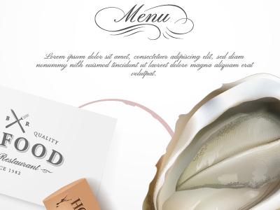 Restaurant design elements menu design element typography logo restaurant