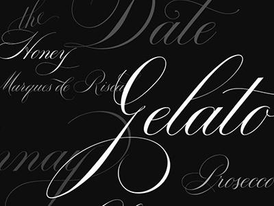 Script Font Bodega font script calligraphic copperplate classic engrosser headline display