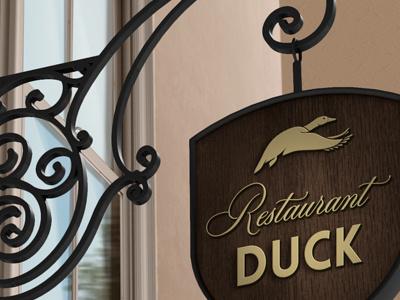 Signboard Mock-Up wine branding mock-up mockup label template restaurant cafe hotel