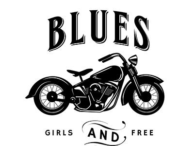 Vintage Logo / Insignia with motorbike