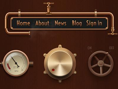 steampunk vintage gui gui interface vintage retina
