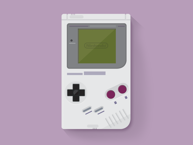 Gameboy gameboy nintendo flat flat design icon focus lab