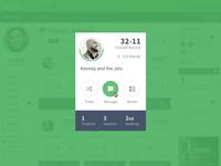 Team Card focus lab web design web app ui user interface fantasy football