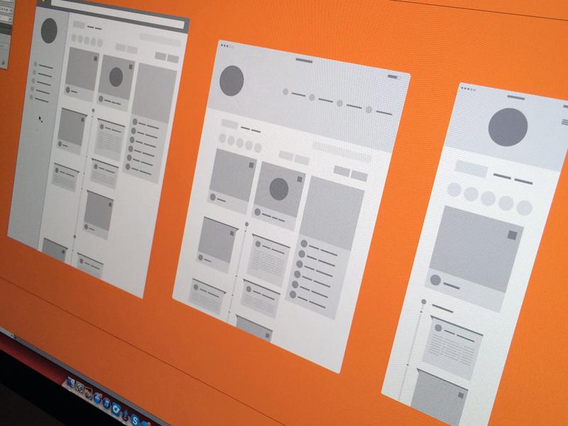 Wireframes focus lab web design ui design wireframes flat icons flat design responsive