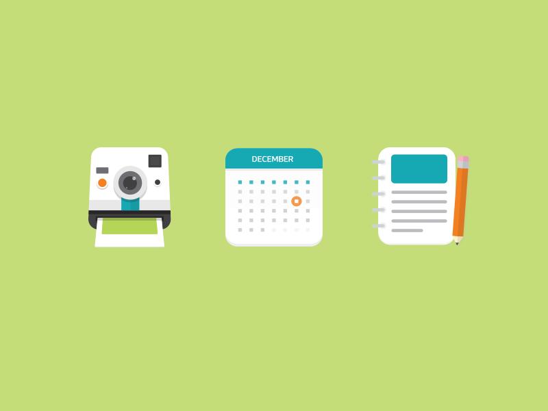 Icons focus lab web design flat design social flat icons illustration
