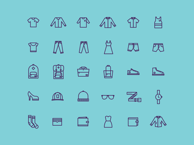 Apparel Icons