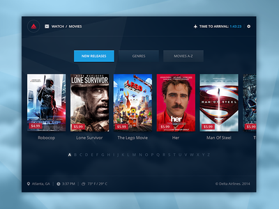 Delta  focus lab delta movies branding ui design interface interface design