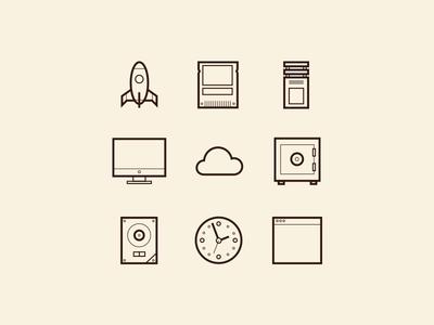 Crucial Icons focus lab web design hosting icons branding website marketing stroke icons custom icons icon set