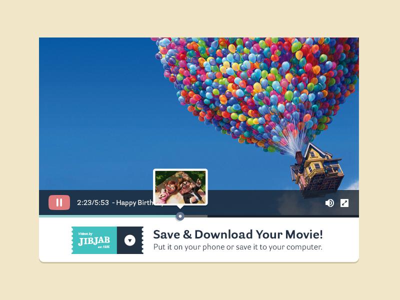 JJ Video Player focus lab web design jib jab video video player branding website marketing flat flat design