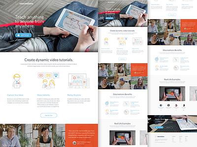 Educreations focus lab website web design icons branding flat flat design education