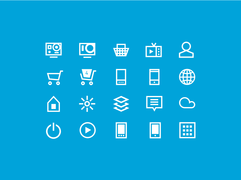 Icons gopro branding icons ui design icon set ux design